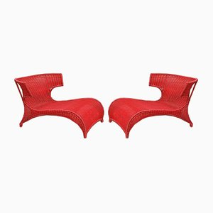 Italian Spaghetti Armchairs, 1960s, Set of 2