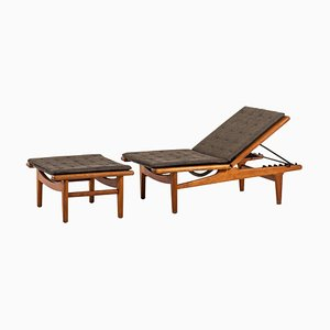Danish Model GE-1 Daybed by Hans J. Wegner for Getama, 1950s