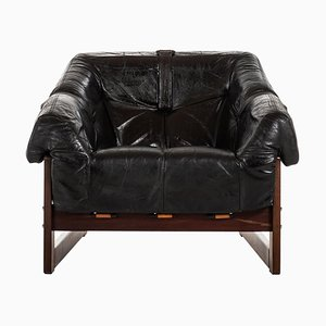 Brazilian Rosewood Easy Chair Model MP-091 by Percival Lafer, 1960s