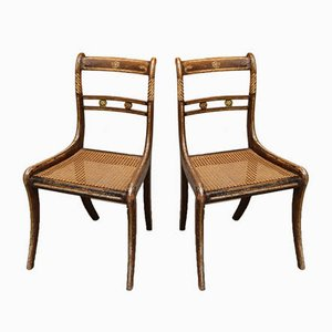 Regency Cane Seat Chairs, Set of 6