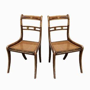Regency Stühle aus Schilfrohr, 6er Set