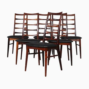 Model Lis Rosewood Dining Chairs by Niels Koefoed, 1960s, Set of 6