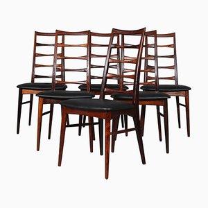 Modell Lis Palisander Esszimmerstühle von Niels Koefoed, 1960er, 6er Set