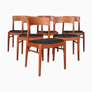 Teak Dining Chairs by Henning Kjærnulf, 1970s, Set of 6