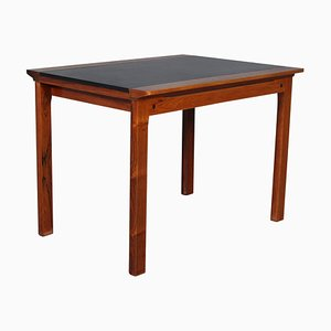 Rosewood and Leather Side Table by Hans Olsen, 1960s