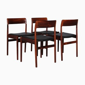 Palisander Esszimmerstühle von Johannes Nørgaard, 1960er, 4er Set