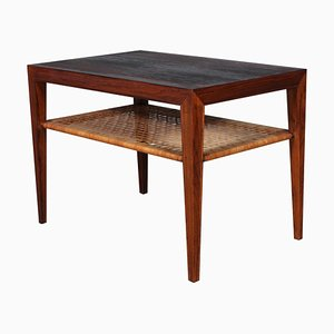 Rosewood and Cane Sofa or Side Table by Severin Hansen, 1960s