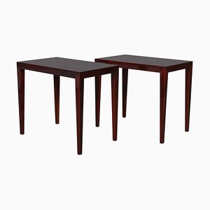 Rosewood Bedside Tables by Severin Hansen, 1960s, Set of 2