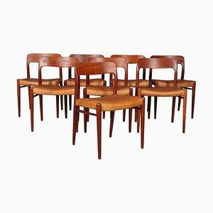 Esszimmerstühle von Niels Otto Møller, 1960er, Set of 8