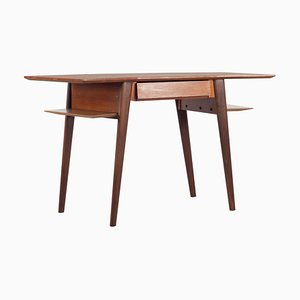 Italian Teak Desk with Drawer by Silvio Cavatorta, 1960s