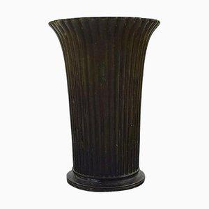 Art Deco Danish Disko Metal Model Number 2318 Vase by Just Andersen, 1940s, Set of 2