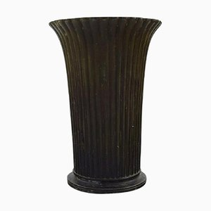 Vase Disko Modèle Art Déco Modèle N ° 2318 Art Déco par Just Andersen, 1940s, Set de 2