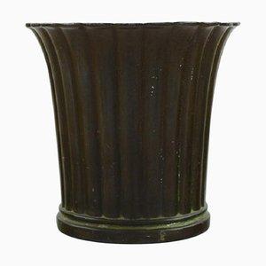 Art Deco Danish Disko Metal Model Number 2353 Vase by Just Andersen, 1940s, Set of 2