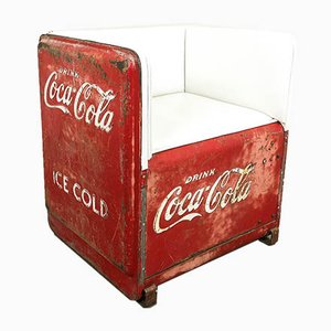 Vintage Coca Cola Cooler Chair, USA, 1930s