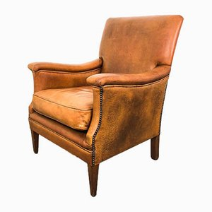 Vintage Sheep Leather Armchairs, Set of 2