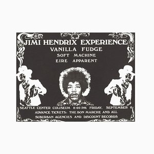 Poster di Jimi Hendrix di Saulius Pempe, 1968