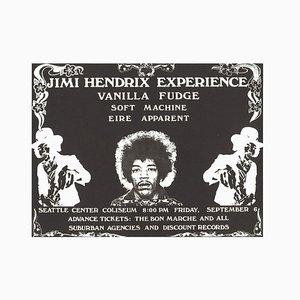 Póster Jimi Hendrix de Saulius Pempe, 1968