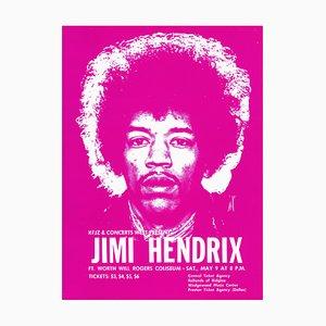 Affiche Jimi Hendrix, 1970