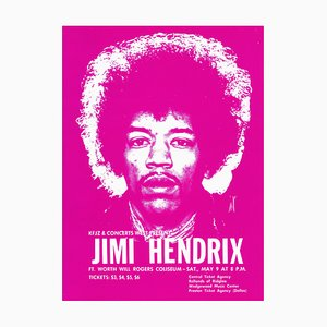 Jimi Hendrix Poster von Saulius Pempe, 1970
