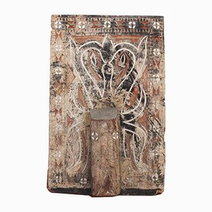 Antique Decorative Wooden House Panel from Toraja, Sulawesi