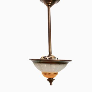 Mid-Century French Conical Ceiling Lamp, 1940s