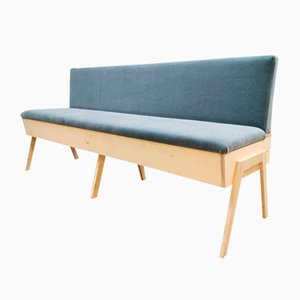 Blue Velvet Folding Sofa by Bestwelhip
