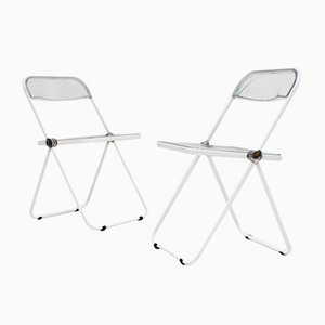 Mid-Century White Plia Chair by Giancarlo Piretti for Castelli