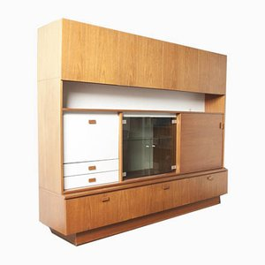 Teak Wandregal oder Highboard, 1960er