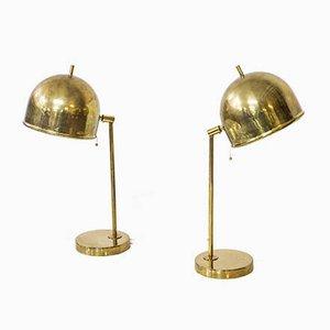 Lampes de Bureau B-075 Attribuées à Eje Ahlgren pour Bergboms, 1960s, Set de 2