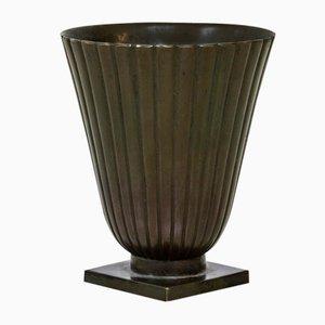 Bronze Vase von Guldsmeds Aktiebolaget, GAB, 1930er