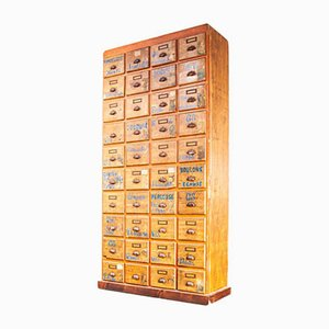 Tall French Workshop Hardware Bank of Drawers, 1940s