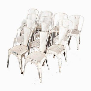 Model A Dining Outdoor Chairs from Tolix, 1950s, Set of 12