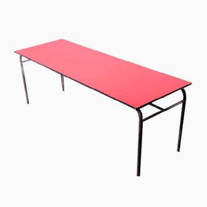 French Large Industrial Dining Table with Laminate Top, France, 1960s