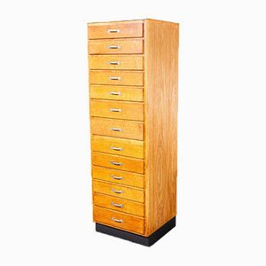 Tall Oak Apothecary Chest of Drawers, Germany, 1920s