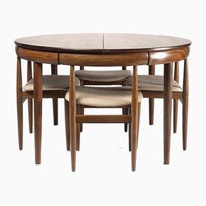 Roundette Esstisch & Stühle Set von Hans Olsen für Frem Røjle, 1950er, 5er Set