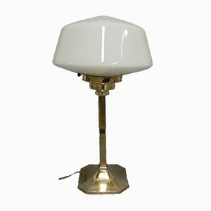 Art Deco Brass Base Table Lamp, 1930s