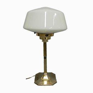 Art Deco Tischlampe mit Messingfuß, 1930er