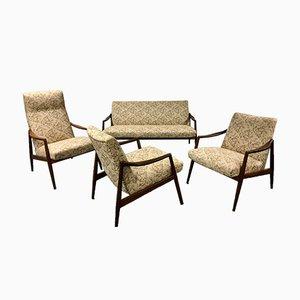 Mid-Century Teak Living Room Set by Hartmut Lohmeyer for Wilkhahn, 1959, Set of 4