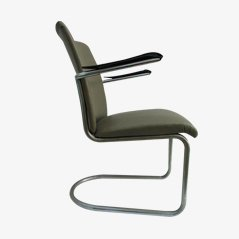 Vintage Tubular Arm Chair from Gebroeders de Wit
