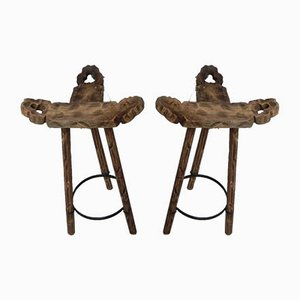 Spanish Stools, 1960s, Set of 2