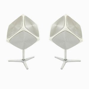 Enceintes de Table Space Age de Grundig, 1960s, Set de 2