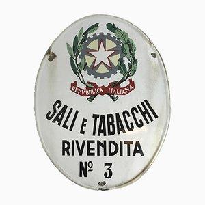 Panneau Publicitaire Sali e Tabacchi Publicitaire, Italie, 1950s