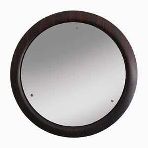 Large Italian Rosewood Mirror, 1960s
