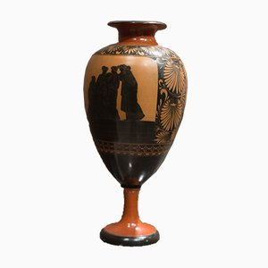 Large Neoclassical Redware Terracotta Vase from Giustiniani, 1840s