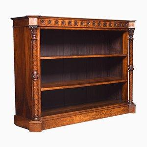 Offenes Bücherregal aus Nussholz im Gotischen Stil