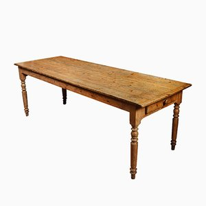Large Antique Pinewood Refectory Dining Table