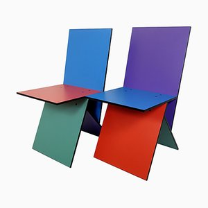 Postmodern Vilbert Chairs by Verner Panton for Ikea, 1993, Set of 2