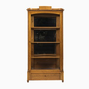 Antique Biedermeier Oak Cabinet