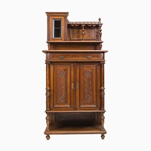 Jugendstil Walnut Cabinet, 1890s
