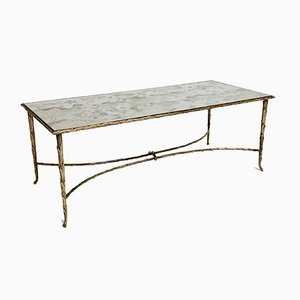 French Gilt Bronze Coffee Table by Maison Charles, 1960s